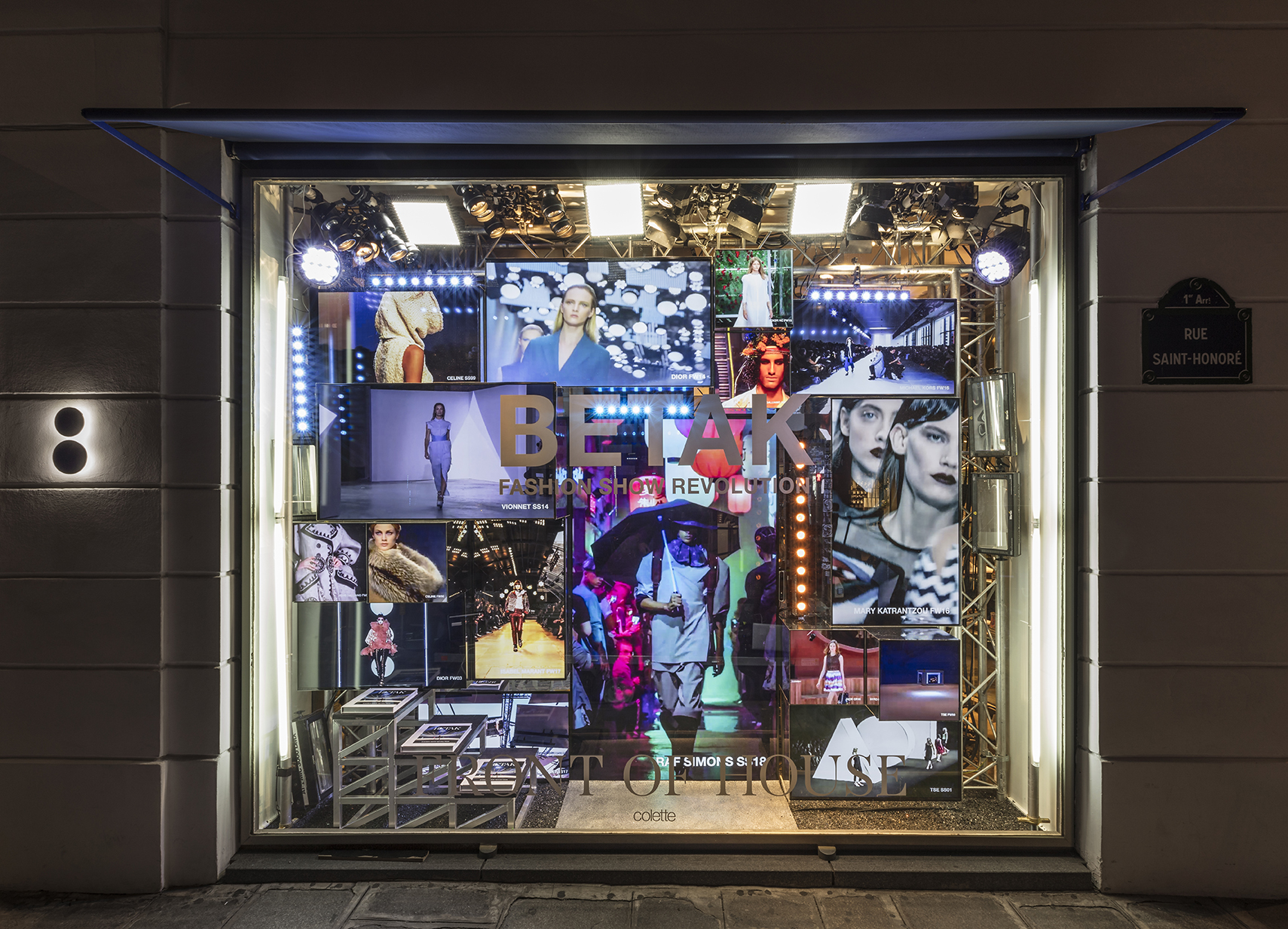 Colette's window display for Betak X Colette