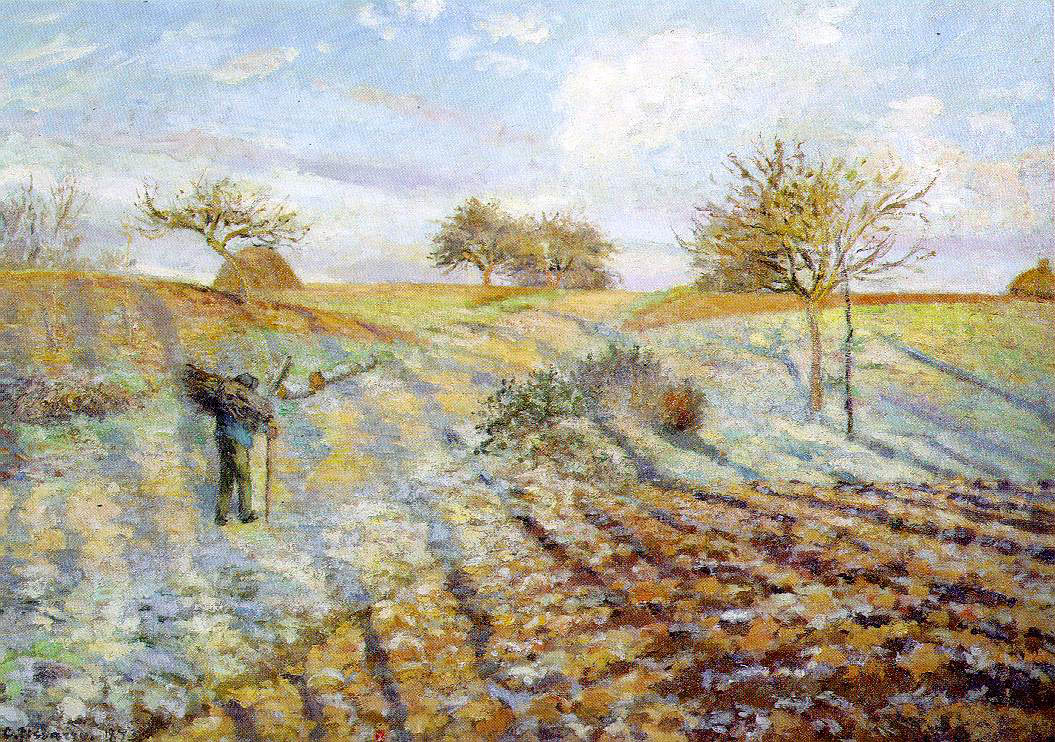 Hourfrost (1873) by Camille Pissarro