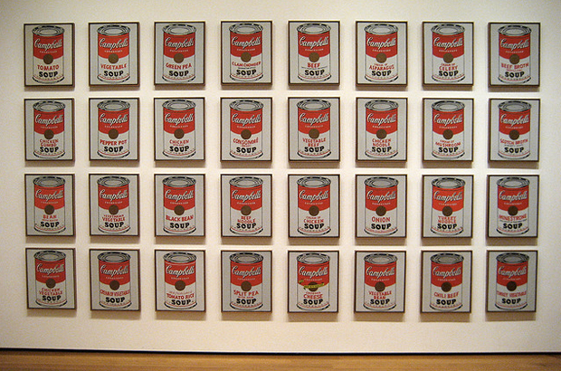 32 Campbell's Soup Cans (1962) - Andy Warhol
