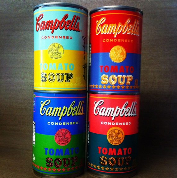 Campbell's new soup cans