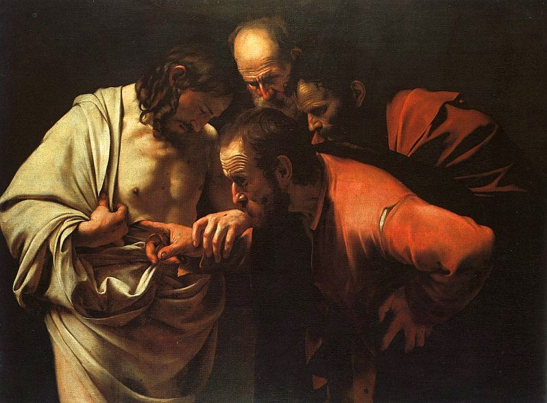The Incredulity of Saint Thomas (1601-2) by Caravaggio