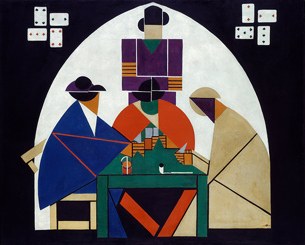 The Card Players (1916-17) by Theo van Doesberg