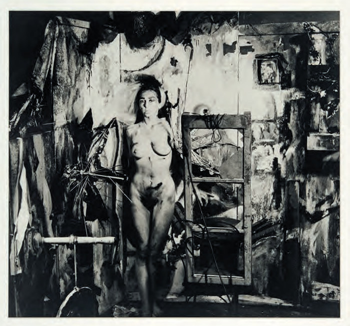 Eye Body: 36 Transformative Actions for Camera (1963) by Carolee Schneemann. Photographs by Erró. As reproduced in Flying Too Close to the Sun