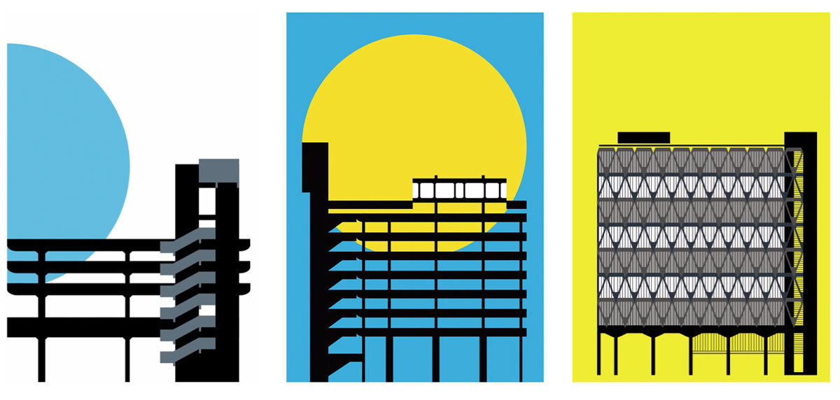 Peter Chadwick's Tricorn Centre, Trinity Square car park and Wellbeck Street car park posters