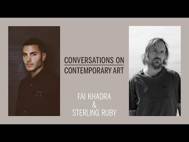 From left: Fai Khadra and Sterling Ruby appeared in Sotheby's recent discussion about Phaidon's Contemporary Artist Series