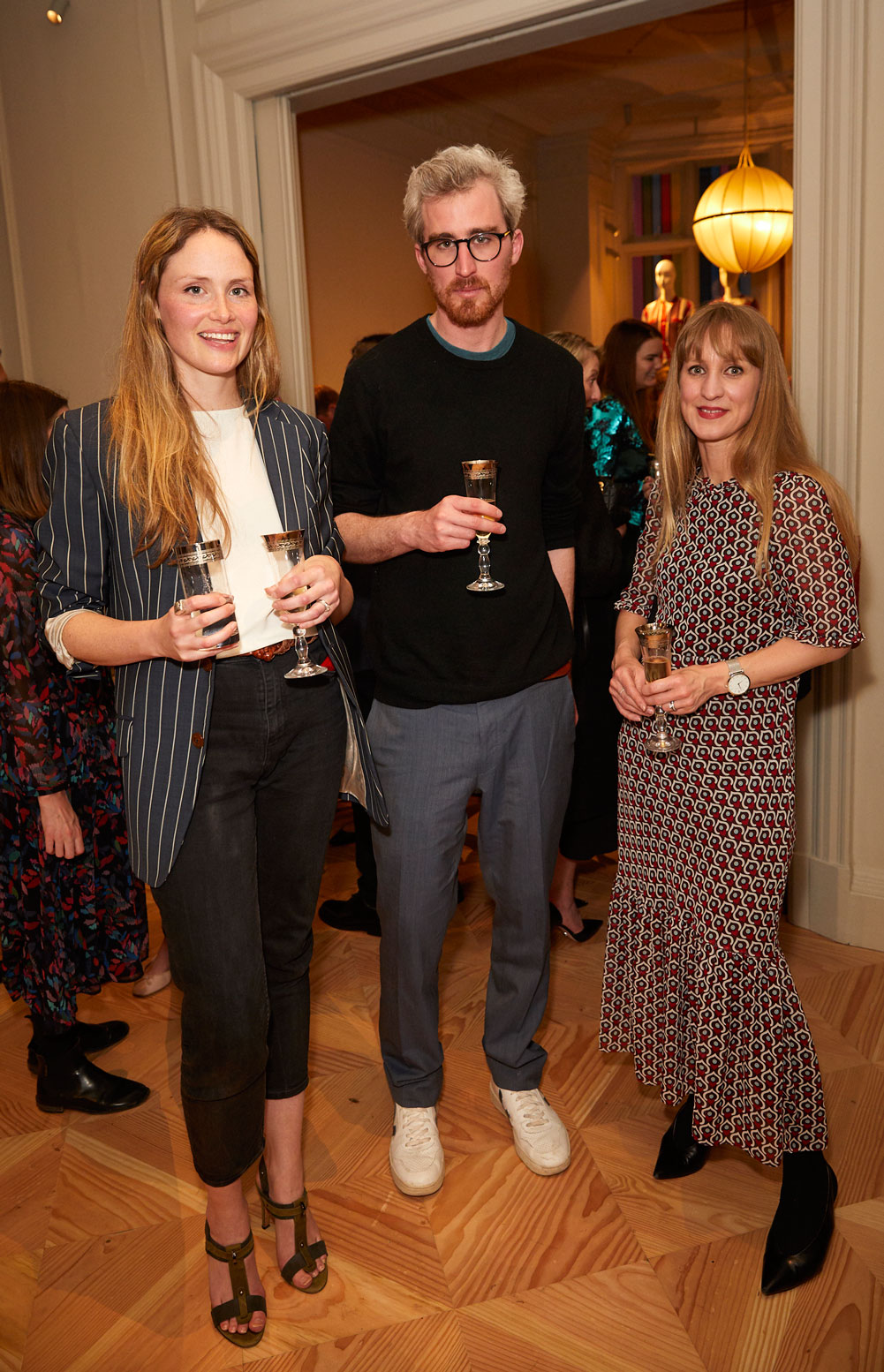 Cath and Jeremy Brown and Jessica Doyle at the Interiors launch at MATCHESFASHION.COM in London