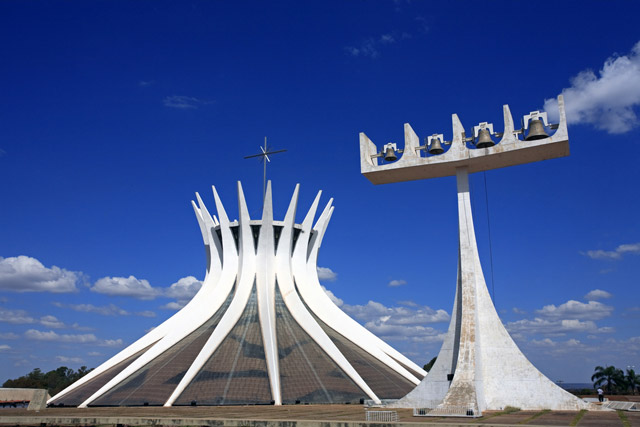The Cathedral of Brasilia by Oscar Niemeyer