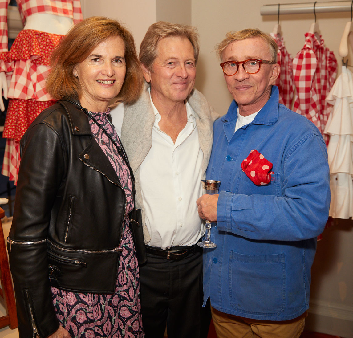 Catherine and John Pawson and Jasper Conran at the Interiors launch at MATCHESFASHION.COM in London