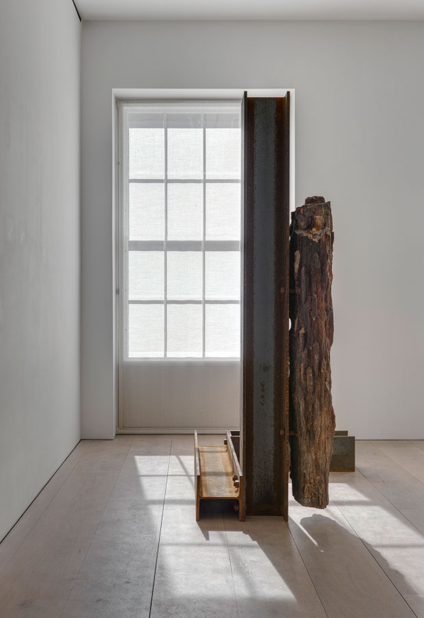 Installation view from the 2015 solo exhibition The Plastic Unit at David Zwirner, London - Carol Bove