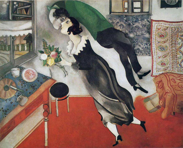 The Birthday (1915) by Marc Chagall. As reproduced in our Art & Ideas book dedicated to the artist