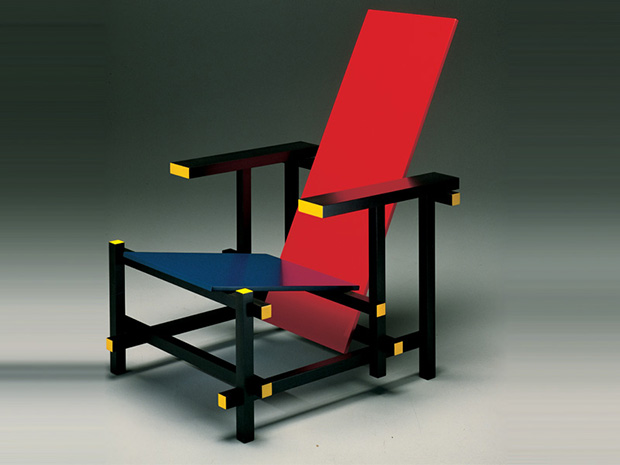 Red Blue Chai, designed in 1917 by Gerrit Rietveld