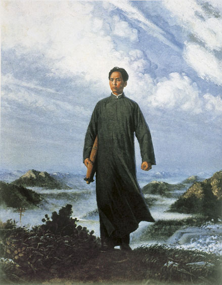 Chairman Mao Goes to Anyuan, (1967) by Liu Chunhua. As reproduced in The Chinese Art Book