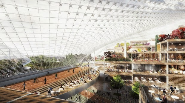Google's North Bayshore campus proposal, by Bjarke Ingels and Thomas Heatherwick. Courtesy of Google
