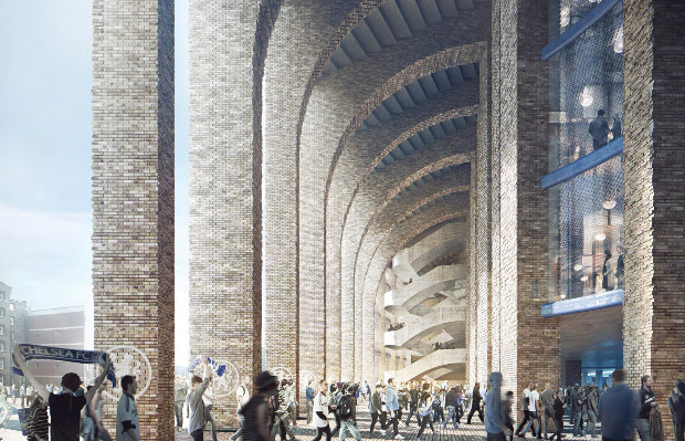 Herzog & de Meuron's renderings for the new Chelsea stadium