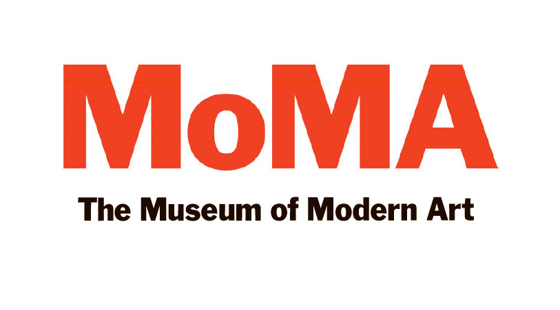 MoMA logo (1964/2004) by Ivan Chermayeff and Matthew Carter, as reproduced in Graphic
