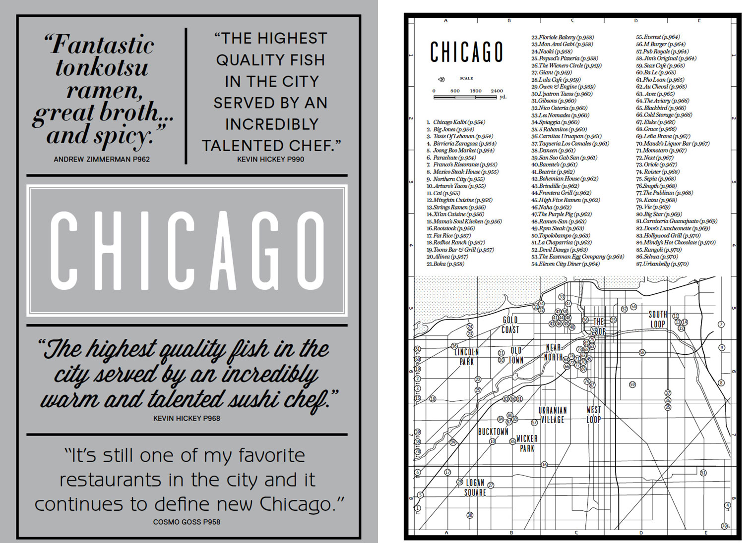 The Chicago introduction from our new book Where Chefs Eat