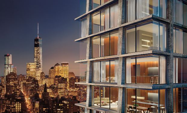 An exterior rendering for 215 Chrystie
