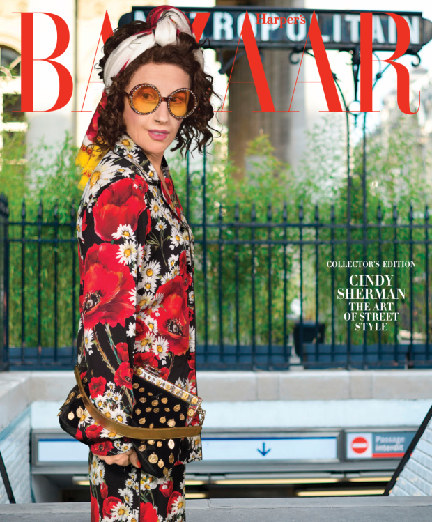 Cindy Sherman dressed in Dolce & Gabbana for Harper's Bazaar. From Project Twirl for Harper's Bazaar
