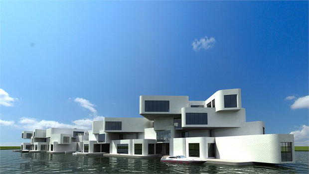 All aboard the floating Dutch apartment block
