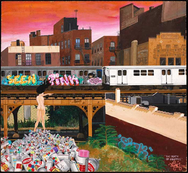 The Death of Graffiti 1982 - Lady Pink, Museum of the City of New York, gift of Martin Wongew York, gift of Martin Wong