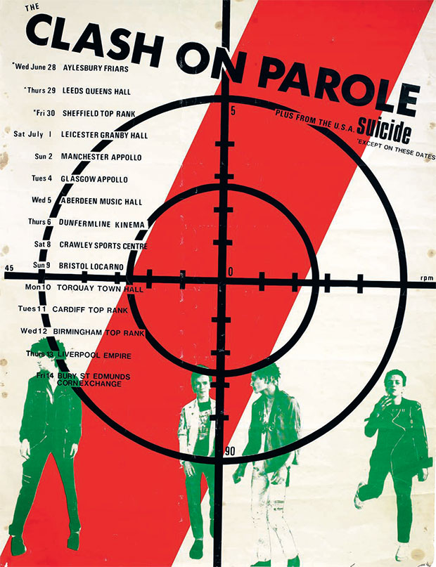 Poster for The Clash's On Parole tour, June/July 1978. Courtesy of The Mott Collection