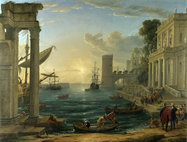 Seaport with the Embarkation of the Queen of Sheba 1648 - Claude Lorrain