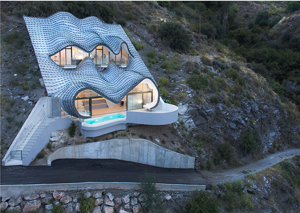 Gaud 237 Inspired House Perches Precariously Architecture