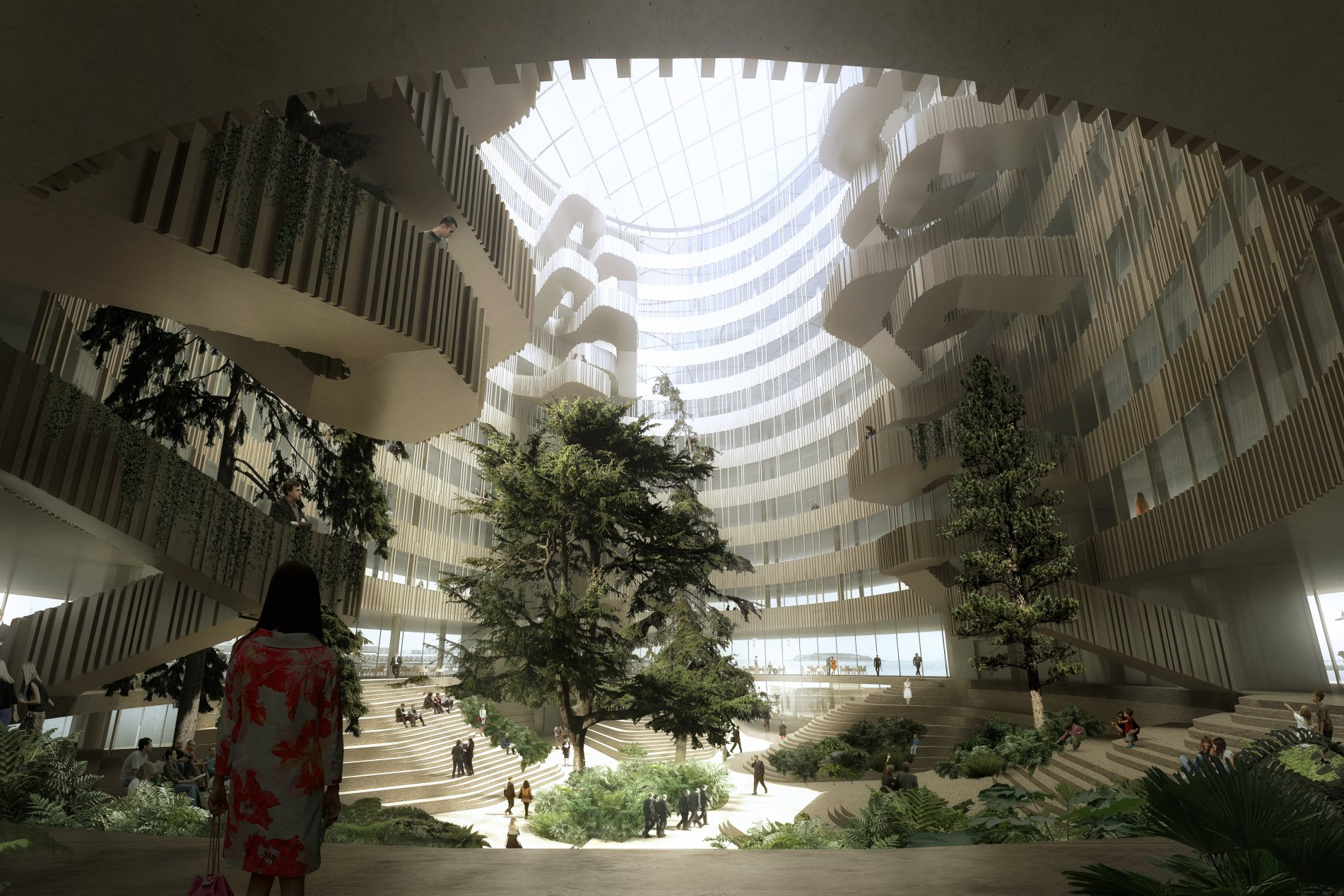 A 21st century winter garden for Denmark's chilly new city