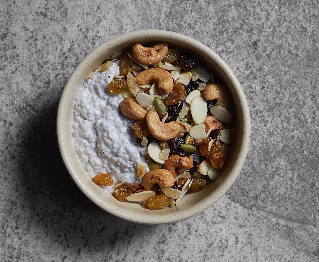 Atla's Coconut chia oatmeal. Photorgraphy by Signe Birck, courtesy of Daniela Soto-Innes' Instagram