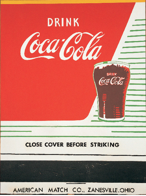 Close Cover Before Striking (Coca-Cola) (1962) by Andy Warhol. From Andy Warhol Giant Sized