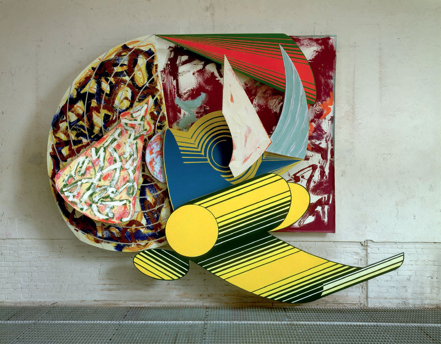 Giufà e La Statua Di Gesso (1984) by Frank Stella, from his Cones and Pillars series, as reproduced in our new book