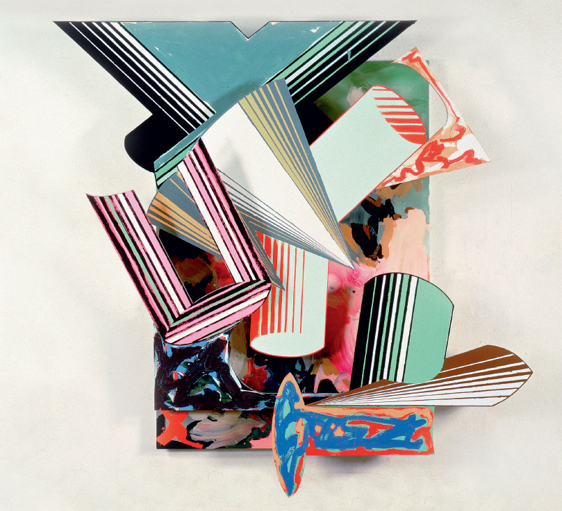 Lo Sciocco Senza Paura 3.8X (1984) by Frank Stella, from his Cones and Pillars series, as reproduced in our new book