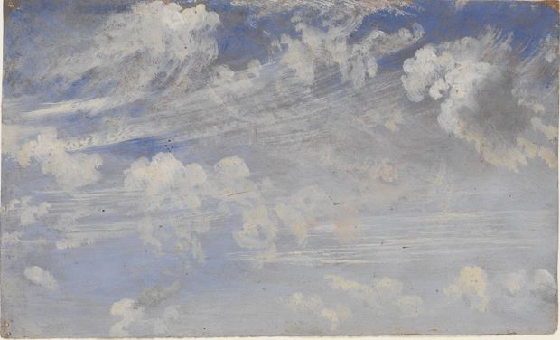 Study of Cirrus Clouds (c.1822) by John Constable, courtesy of the Victoria and Albert Museum/Art Everywhere