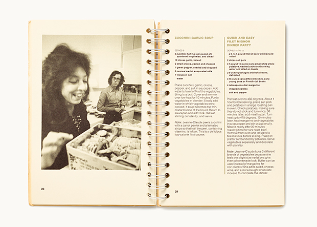 Christo and Jeanne-Claude's inclusion in Artists' Cookbook. As featured in The Cookbook Book.