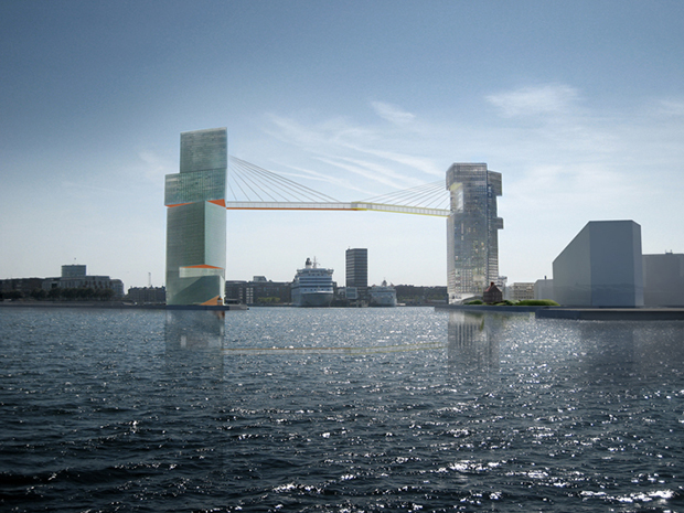 Copenhagen Gate by Steven Holl. Image courtesy of Stevenholl.com