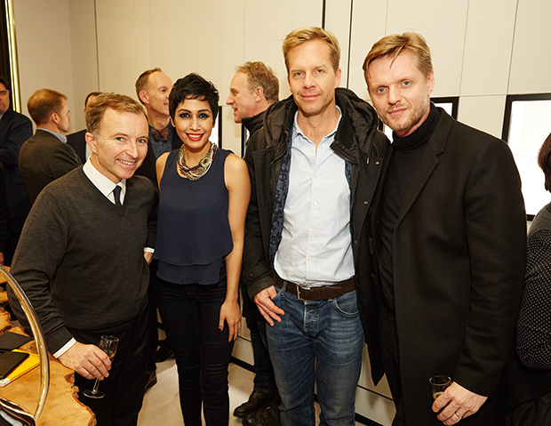 Tony Chambers (far left) at the Copenhagen Wallpaper* City Guide launch in London, December 2015