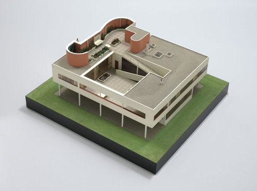 Le Corbusier with Pierre Jeanneret. Villa Savoye model (1929–31)