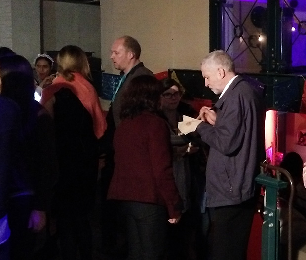 Jeremy Corbyn at Wahaca's Day of the Dead event in London