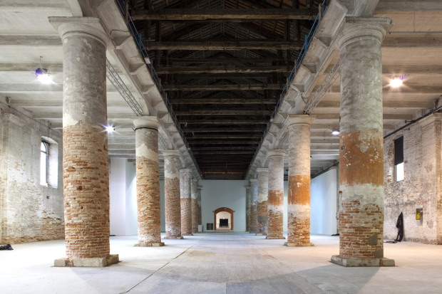 The Corderie in the Arsenale, Venice.