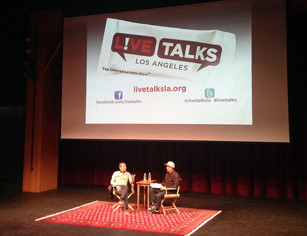 Corey Lee is interviewed by Roy Choi at the Anne and Jerry Moss Theatre, Santa Monica