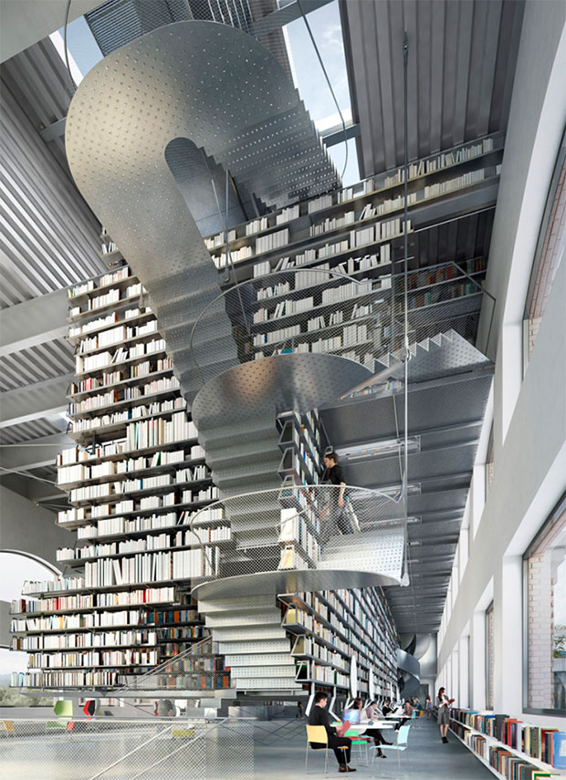 The Ho Fine Arts Library by Wolfgang Tschapeller