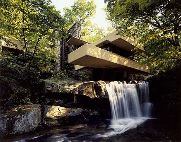 Fallingwater by Frank Lloyd Wright. Image courtesy of the Western Pennsylvania Conservancy