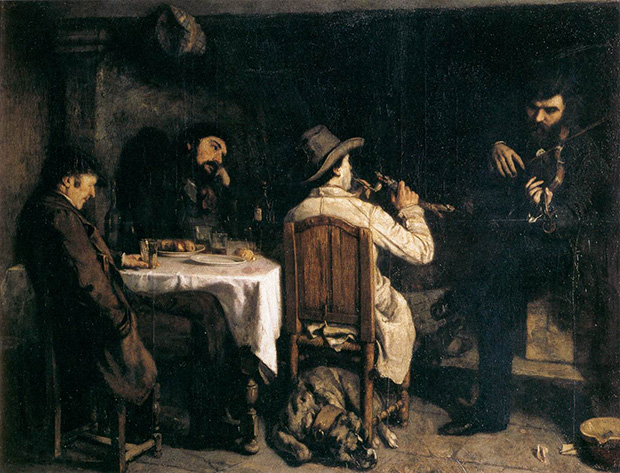 After Dinner at Ornans (1848-9) by Gustave Courbet