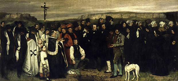 A Burial at Ornans: Historical Painting (1849-50) by Gustave Courbet