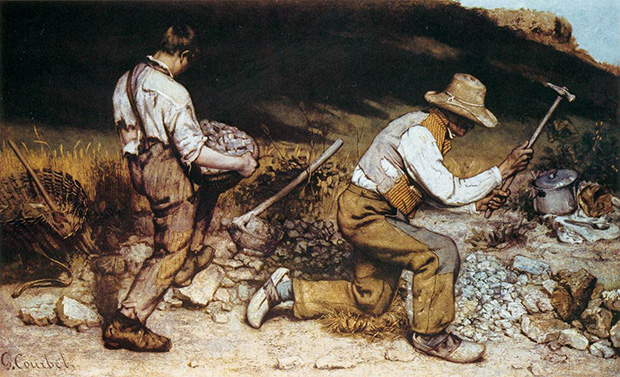 The Stonebreakers (1849) by Gustave Courbet