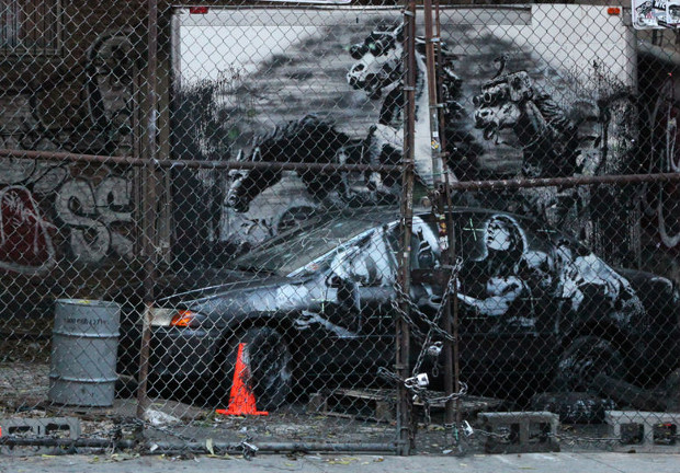 One of Banky's 2013 New York works