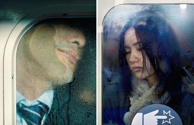Michael Wolf photographed commuters on the Tokyo subway for his series 'Tokyo Compression'