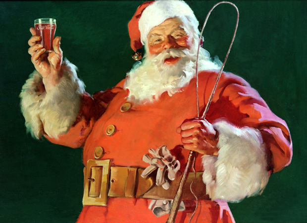 Haddon Sundblom's painting of Santa Claus for Coca-Cola