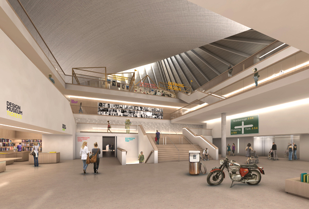 John Pawson's designs for the new location of the Design Museum in London have been released