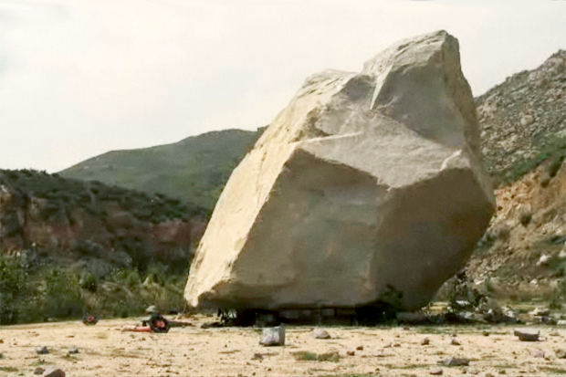 Michael Heizer's 340-ton rock, Levitated Mass